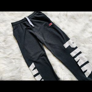 vs pink lounge sweatpants with cuffed bottom
